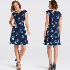 CLEARANCE Draper James Nassau Navy Floral Dress XS